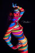 girl of a different color artistic nude photo by model alexandra queen