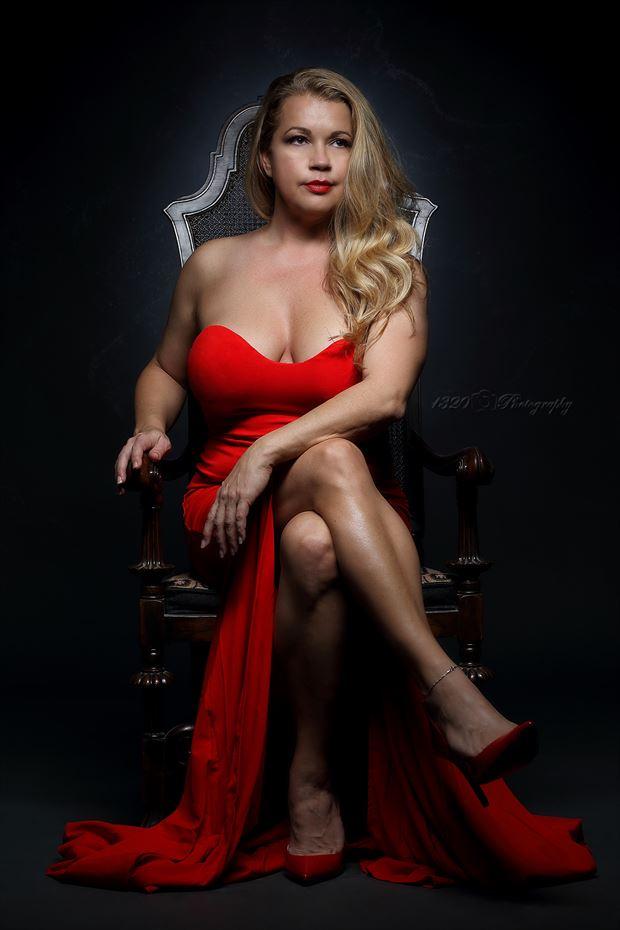 glamour studio lighting photo by model angela mathis