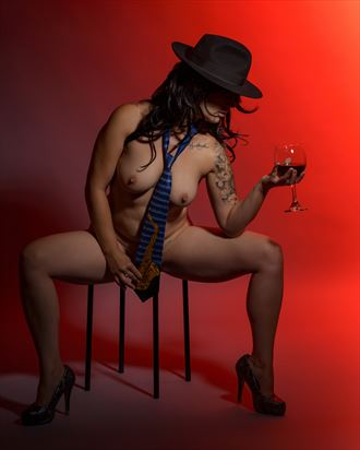 glass of wine artistic nude artwork by photographer positively exposed