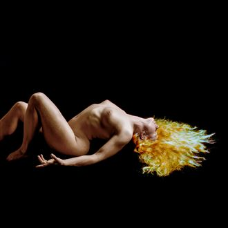 gold lava of soul artistic nude photo by artist tzoltecart