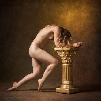 golden artistic nude photo by photographer fischer fine art