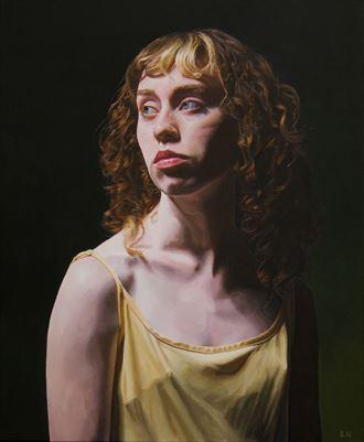 golden portrait artwork by artist bjornn