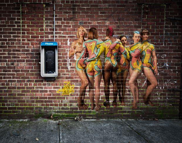 graffiti on the wall body painting photo by photographer doclist