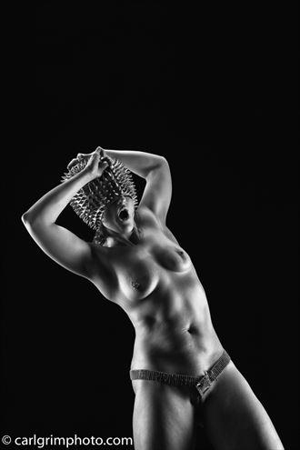 grand master shouts flash erotic photo by model kez chalinor