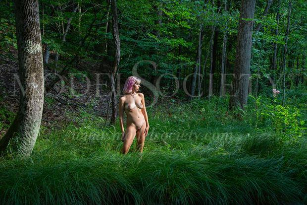 grassy clearing artistic nude photo by photographer michael grace martin