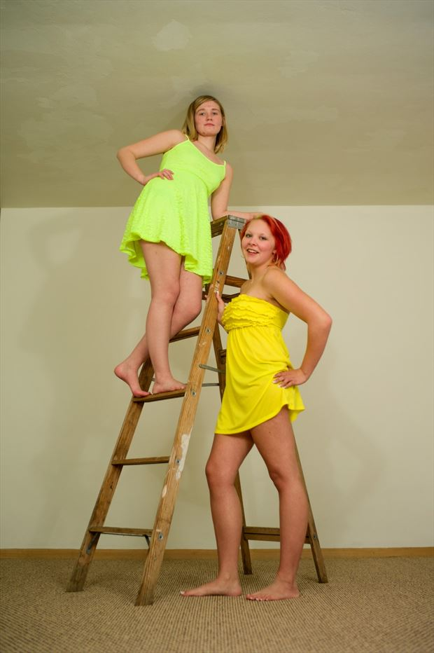 green and yellow fashion photo by photographer avant garde_art