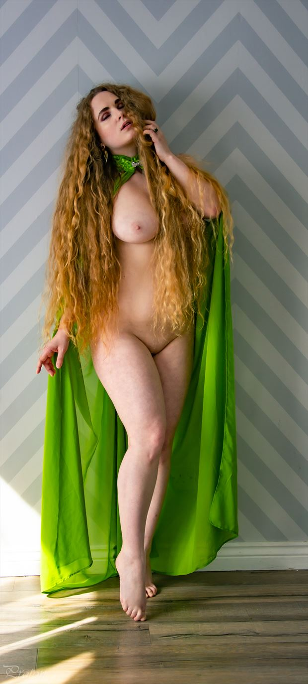 green goddess artistic nude photo by photographer proton