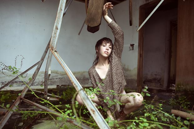 growth and decay fashion photo by model melancholic