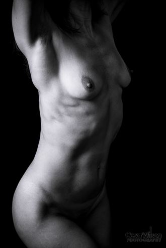 hands up artistic nude artwork by photographer borsalino