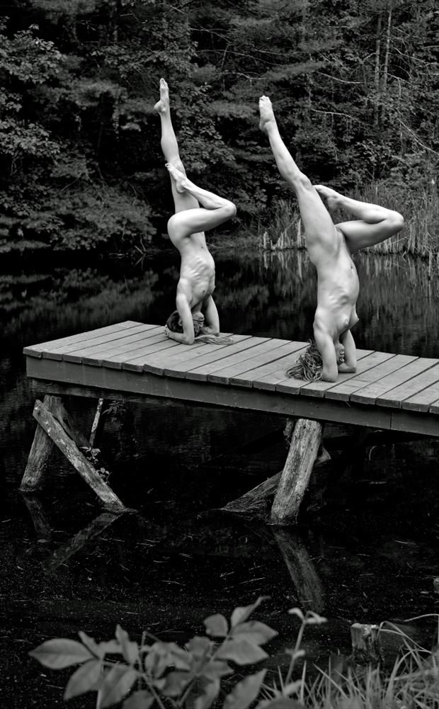 handstand artistic nude photo by photographer werner lobert