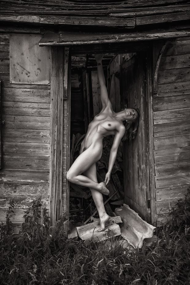 hanging around in the doorway artistic nude artwork by photographer neilh