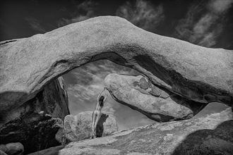 hanging at arch rock artistic nude photo by photographer danwarnerphotography