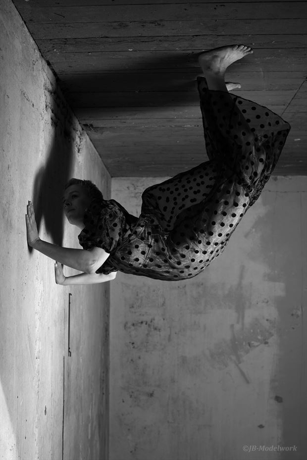 hanging surreal photo by photographer jb modelwork