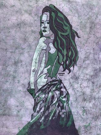 hanna mermaid1 implied nude artwork by artist kevin houchin