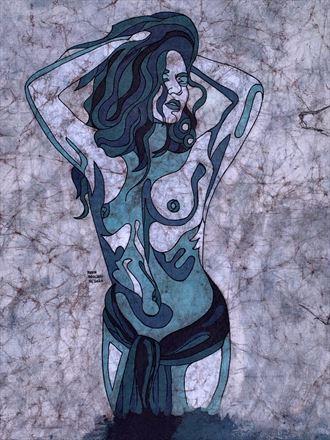hanna s blues artistic nude artwork by artist kevin houchin