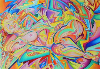 hannah pseudo futurist nude 5 artistic nude artwork by artist andrew chambers