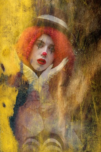 happy is the Clown Expressive Portrait Artwork by Photographer Howie