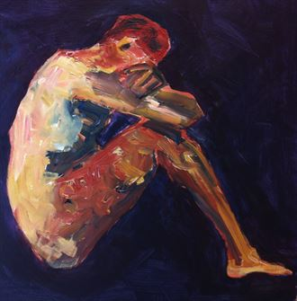 have a thought artistic nude artwork by artist chris j hodge