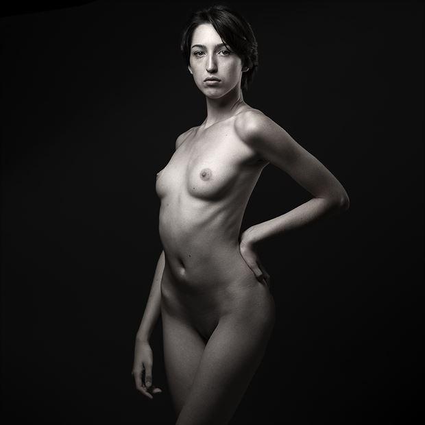 hazel low key artistic nude photo by photographer depa kote
