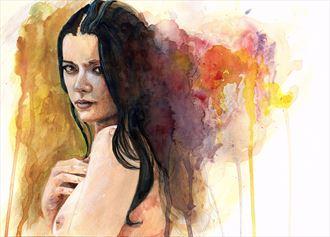 helen diaz artistic nude artwork by artist angeil illustrations