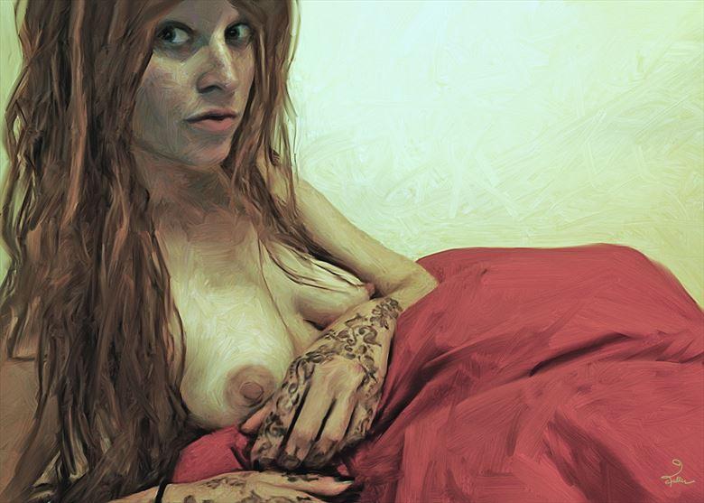 henna artistic nude artwork by artist van evan fuller