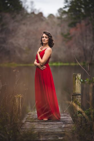 her red dress sensual photo by photographer rhett