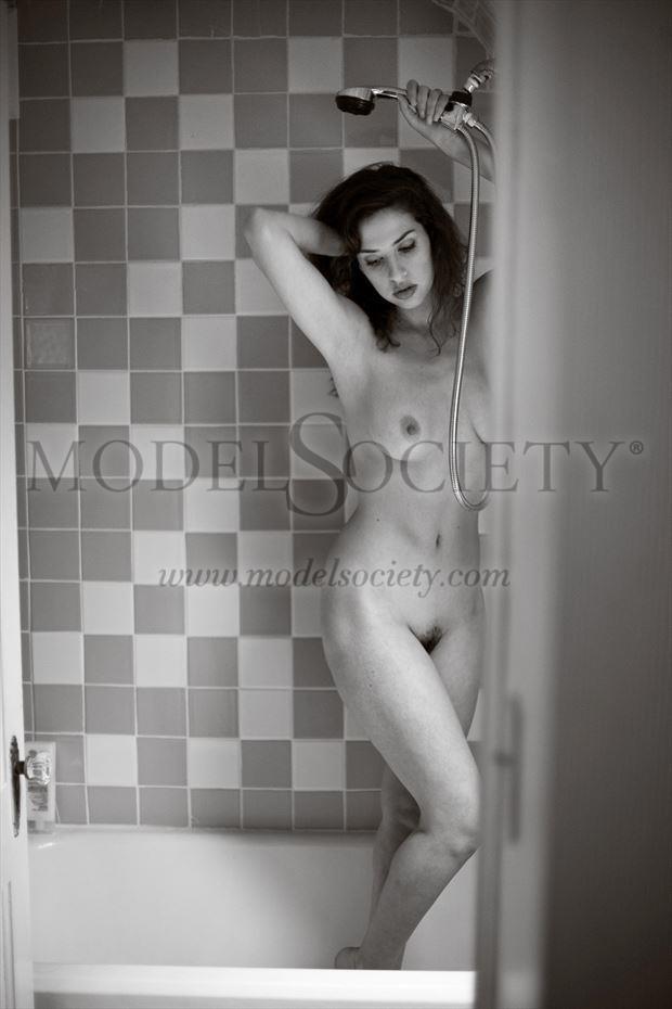 hidden shower artistic nude photo by photographer michael grace martin
