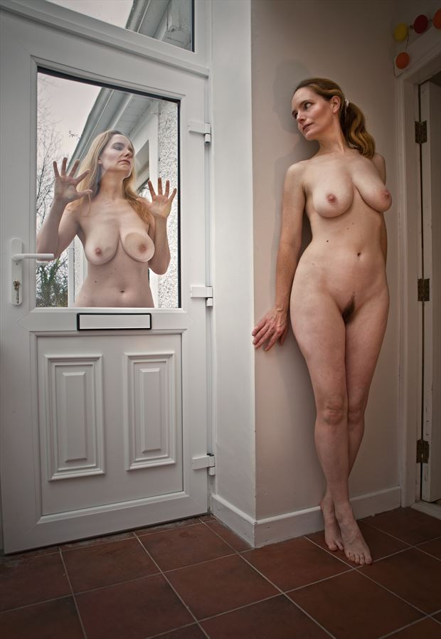 hiding on yourself artistic nude photo by photographer douglas ross