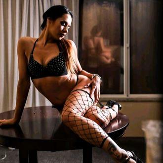 hilton boudoir shoot lingerie photo by model amandaelle