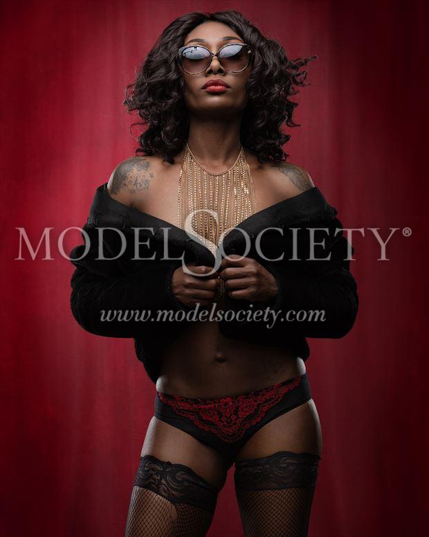 hit woman or assassin sensual artwork by model skinnythemodel
