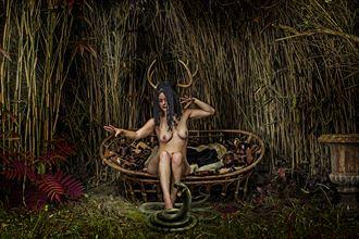horned goddess artistic nude artwork by artist hybryds
