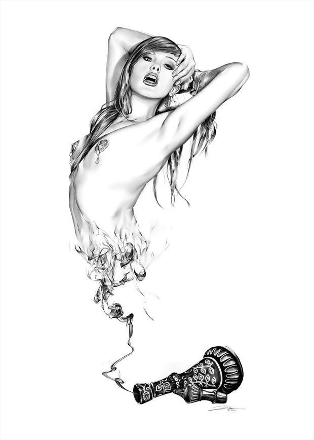 how i dream of jeannie lingerie artwork by artist dirk richter