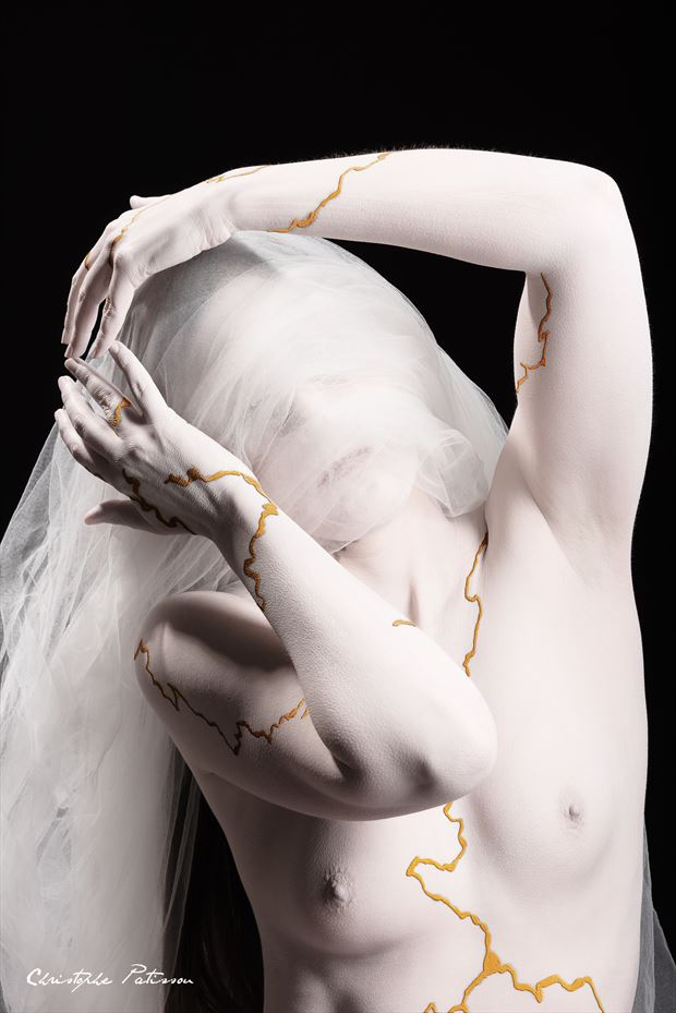 human kintsugi artistic nude photo by photographer pose %C3%A9motions