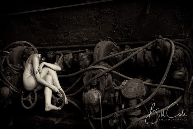 human machine artistic nude photo by model melancholic
