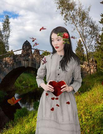 hummingbird s love song fantasy artwork by artist karinclaessonart