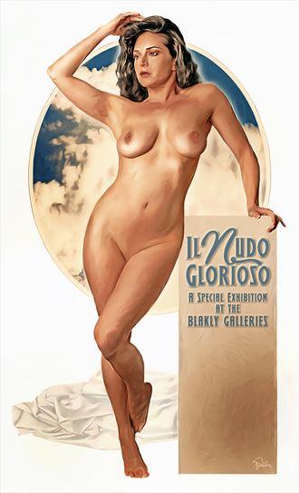 il nudo glorioso glamour artwork by artist van evan fuller