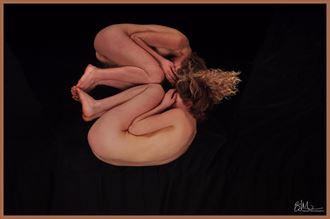 illuminated artistic nude photo by model katarina keen