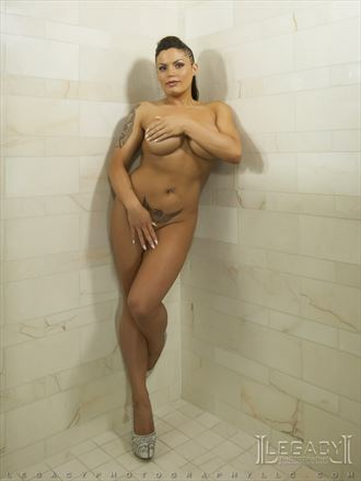 implied in the shower artistic nude photo by photographer legacyphotographyllc