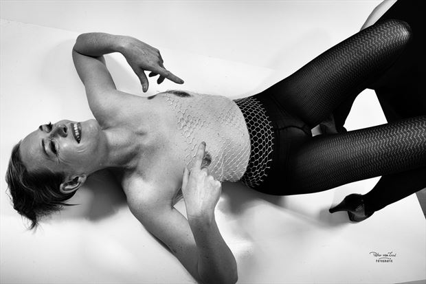 implied nude experimental photo by model pure