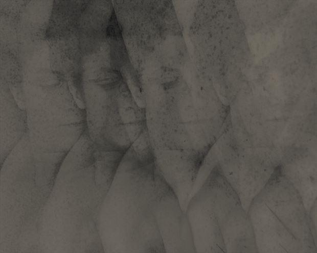 implied nude photo manipulation artwork by model madeline reynolds