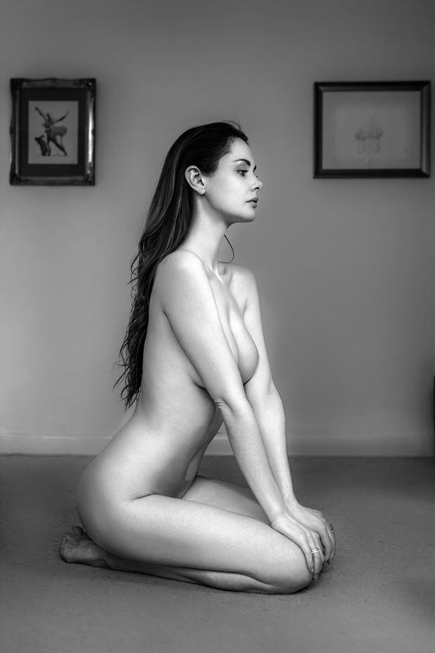 implied nude portrait photo by photographer ellis