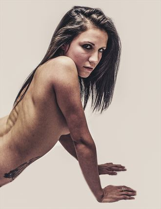implied nude portrait photo by photographer harrison photography