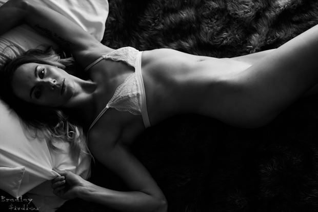 in bed lingerie photo by model alexandra queen
