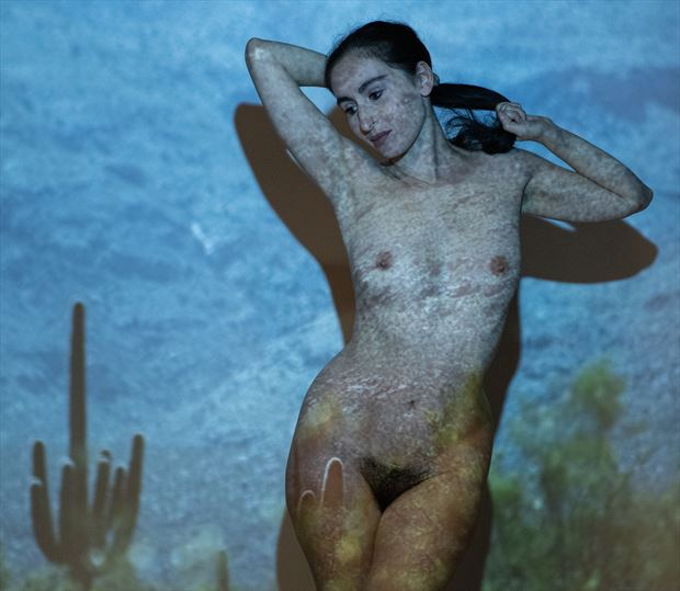 in cacti artistic nude artwork by photographer gsphotoguy