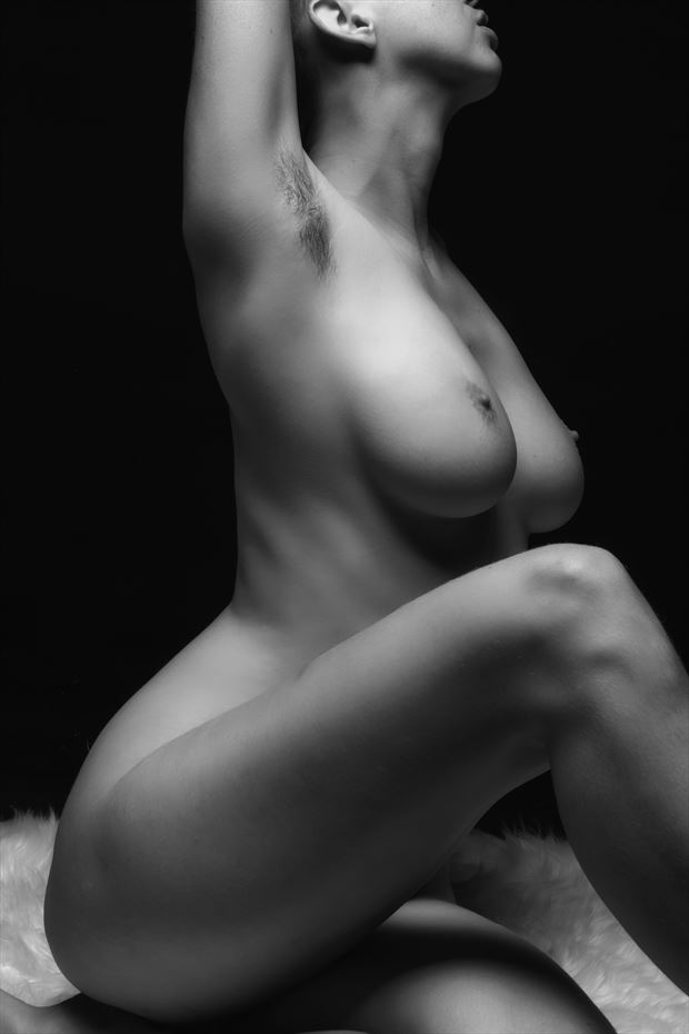 in the light artistic nude photo by photographer philip turner