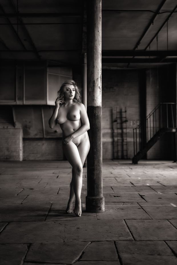 in the warehouse artistic nude artwork by photographer neilh