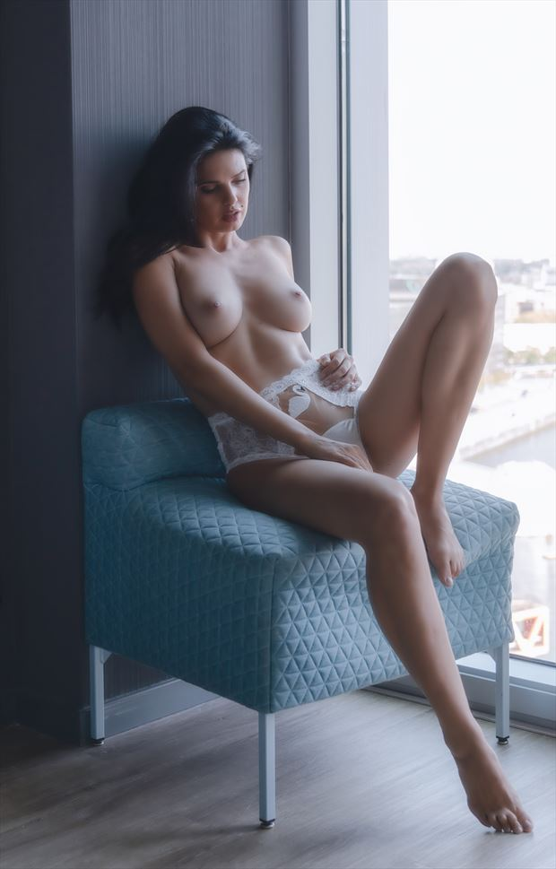 in the window artistic nude photo by photographer colin dixon