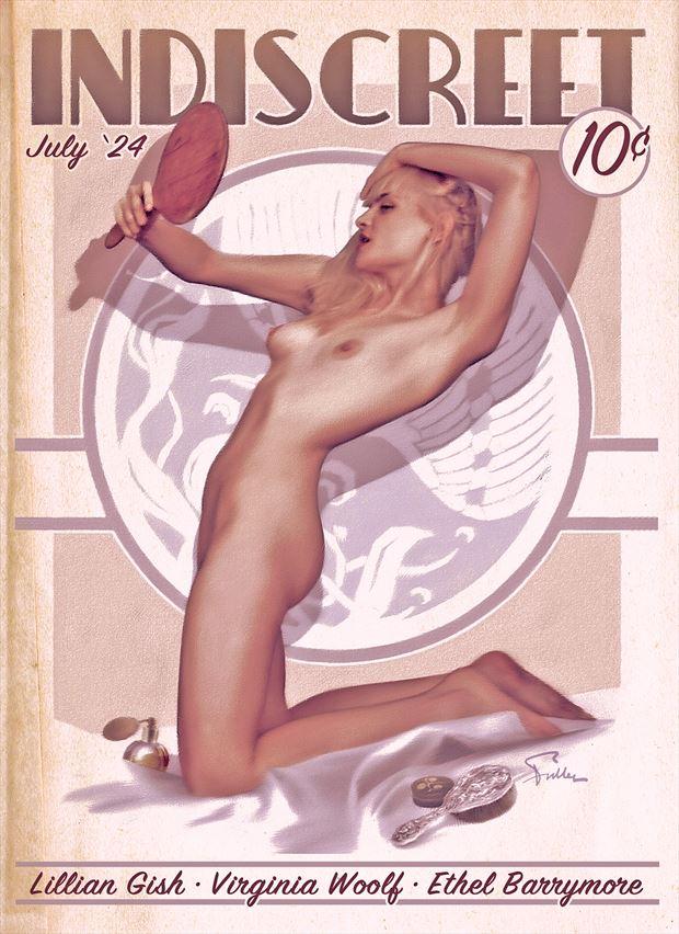 indiscreet artistic nude artwork by artist van evan fuller