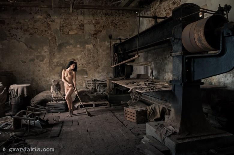 indoors nude study %238 Artistic Nude Photo by Photographer George Vardakis