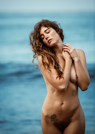 indulged in the touch of the ocean artistic nude photo by photographer jonathan c